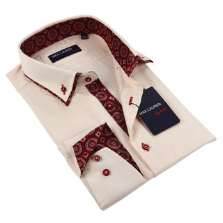 Max Lauren Men's Peach Dress Shirt