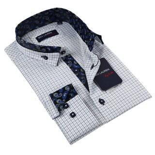 Max Lauren Men's Blue Dress Shirt
