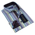 Rashbi Men's Blue  Dress Shirt
