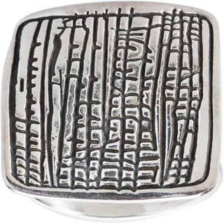 Kele & Co .925 Sterling Silver Bamboo Imprint Ring