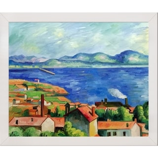 Paul Cezanne The Gulf of Marseilles Hand Painted Framed Canvas Art