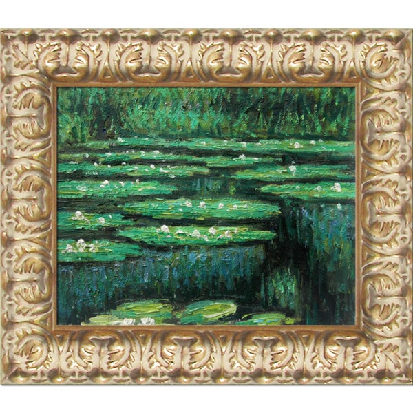 Claude Monet Water Lilies II Hand Painted Framed Canvas Art