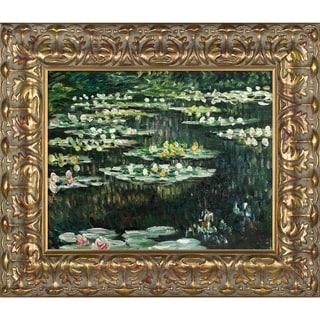 Claude Monet Water Lilies II Hand Painted Framed Canvas Art