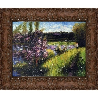 Pierre-Auguste Renoir The Seine at Chatou Hand Painted Framed Canvas Art