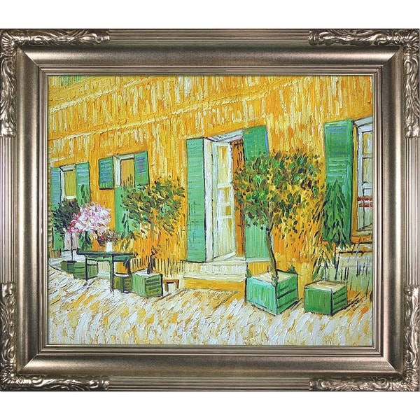Vincent Van Gogh Exterior of a Restaurant at Asnieres Hand Painted Framed Canvas Art