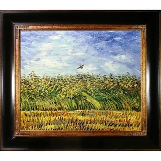 Vincent Van Gogh Edge of a Wheat Field with Poppies and a Lark Hand Painted Framed Canvas Art