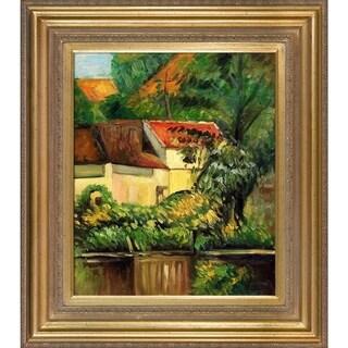 Paul Cezanne House of Piere La Croix Hand Painted Framed Canvas Art