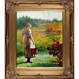 Winslow Homer Returning From The Spring Hand Painted Framed Canvas Art