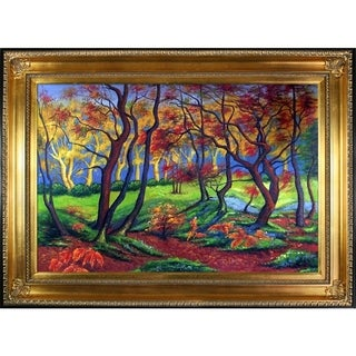 Paul-Elie Ranson The Clearing or Edge of the Wood Hand Painted Framed Canvas Art