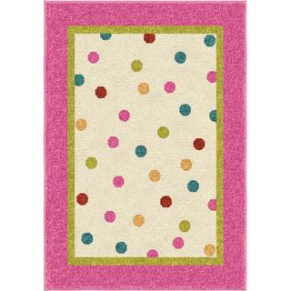 Innocence Collection Polkadot Posies Pink Area Rug (3'8 x 5'1)