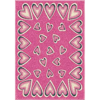 Innocence Collection Loveday Pink Olefin Area Rug