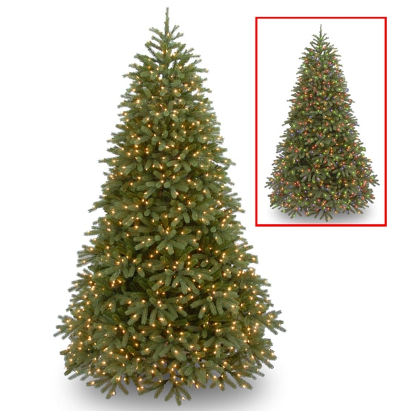 Feel-Real' Jersey Fraser Fir Medium Hinged 7.5-foot Tree with 1000 Low Voltage Dual