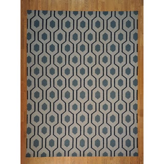 Flat Weave Durie Kilim Hand-woven Rug (9'1 x 12')