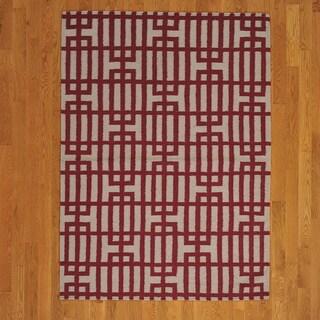 Geometric Durie Kilim Flat Rug (4'4 x 6')