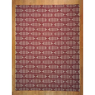 Reversible Durie Kilim Hand-woven Flat Rug (9'1 x 12'2)