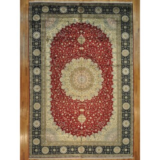 Silken Kashan 250-KPSI Oversize Rug (12' x 18')