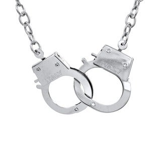 Large Silver Handcuff Necklace