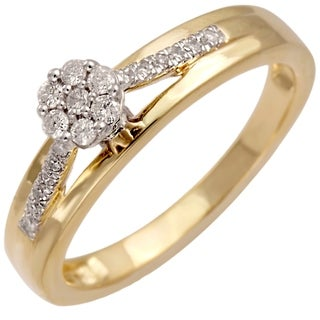 10k Yellow Gold 1/5ct TDW Diamond Promise Ring (H-I, SI1-SI2)