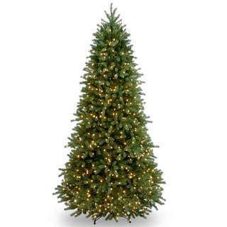 Feel-Real' Jersey Fraser Slim Hinged 7.5ft Tree with 800 Clear Lights - 7.5ft.