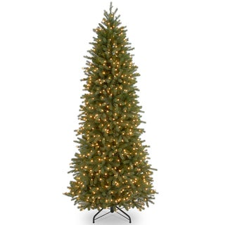 Feel-Real' Jersey Fraser Pencil Slim Fir Hinged 7.5-foot Tree with 650 Clear Lights-UL