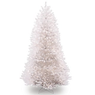 7.5-foot Dunhill White Fir Hinged Tree with 750 Clear Lights