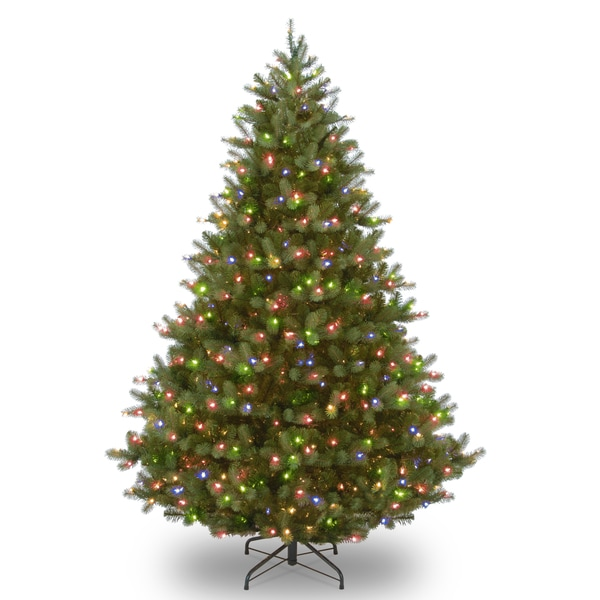 Douglas Fir Hinged 9-foot Tree with 700 Concave 4-color Milti LED Lights