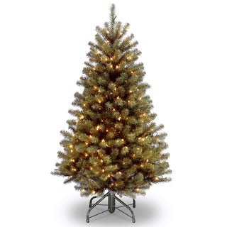 North Valley Spruce Hinged 4.5-foot Tree with 200 Clear Lights-UL