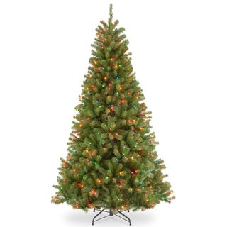 North Valley Spruce Hinged 7.5-foot Tree with 550 Multi Lights-UL