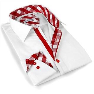 John Lennon Men's Red White/ Red Trim Sport Shirt