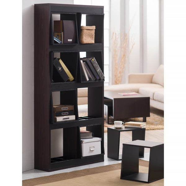 Furniture of America Fairchild Espresso Portable 8-Box Display Shelf