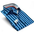 Gorigio Bellini Men's Long Sleeve Blue Dress Shirt