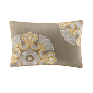 Natori Fretwork Oblong Cotton Throw Pillow