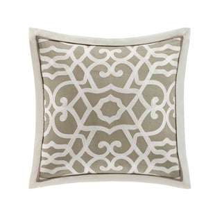 Natori Fretwork Cotton Square 18-inch Throw Pillow
