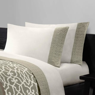 N Natori Fretwork 300 Thread Count Cotton Sheet Set