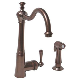 Premier Sonoma Lead-free Single-handle Oil Rubbed Bronze Kitchen Faucet with Matching Side Spray