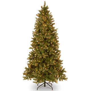 Feel-Real' Down Swept Douglas Slim Fir Hinged 7.5-foot Tree with 600 Clear Lights-UL-Special Version