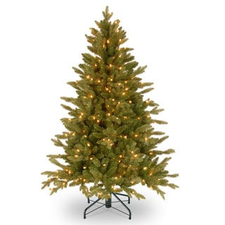 Feel-Real' Avalon Spruce Medium Hinged 4.5-foot Tree with 350 Clear Lights