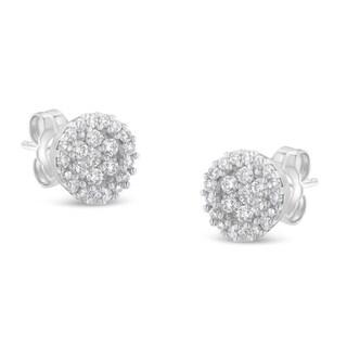 14k White Gold 1/2ct TDW White diamond Stud Earrings (H-I, I1-I2)