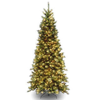 Tiffany Slim Fir Hinged 7.5-foot Tree with 550 Clear Lights-UL