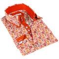 John Lennon Men's Red  Floral Print Sport Shirt