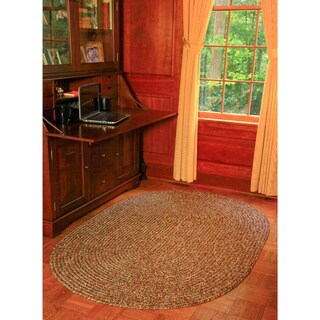 Rhody Rug Sandi Indoor/ Outdoor Reversible Braided Rug (7' x 9') - 7' x 9' Oval