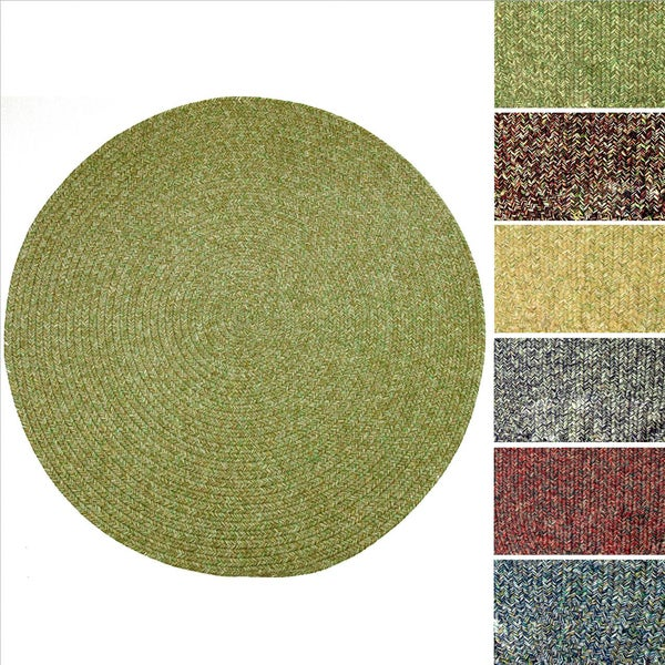 Sandi Indoor Outdoor Reversible Braided Rug 6 Round