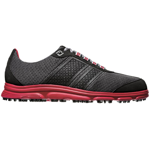 FootJoy Men's FJ Superlites CT Spikeless Black/Red Golf Shoes