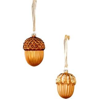 Sage & Co Sage & Co. Acorn Glass Ornament (12 Pack)