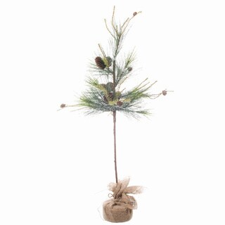 Sage & Co Sage & Co. Scotch Pine Tree With Burlap Base (Pack of 4)