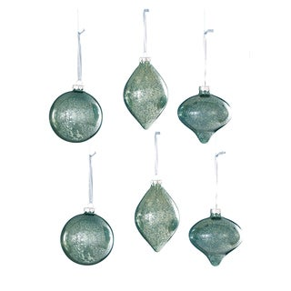 Sage & Co Sage & Co. GLASS Glass Onion Finial Christmas Ornaments (Pack of 6)