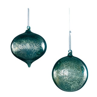Sage & Co Sage & Co. Mercury Glass Onion Ball Christmas Ornament (Pack of 6)