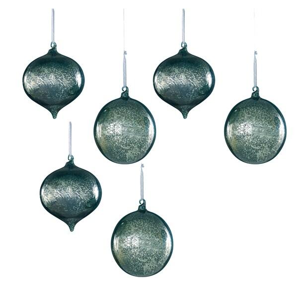 Sage & Co Sage & Co. Mercury Glass Onion Ball Christmas Ornament (Pack of 6)