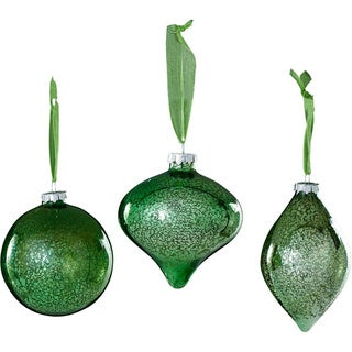 Sage & Co Sage & Co. Glass Onion Ball Christmas Ornaments (Pack of 6)