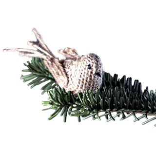 Sage & Co Sage & Co. Fringed Burlap Bird Clip-on Ornament (Pack of 12)